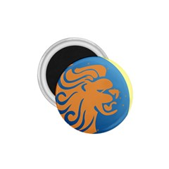 Lion Zodiac Sign Zodiac Moon Star 1 75  Magnets by Nexatart