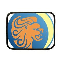 Lion Zodiac Sign Zodiac Moon Star Netbook Case (small)  by Nexatart