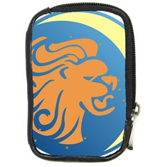 Lion Zodiac Sign Zodiac Moon Star Compact Camera Cases