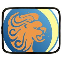 Lion Zodiac Sign Zodiac Moon Star Netbook Case (xl)