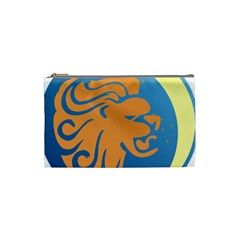Lion Zodiac Sign Zodiac Moon Star Cosmetic Bag (small)  by Nexatart