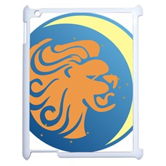 Lion Zodiac Sign Zodiac Moon Star Apple Ipad 2 Case (white)