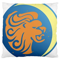 Lion Zodiac Sign Zodiac Moon Star Large Cushion Case (one Side) by Nexatart