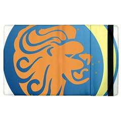Lion Zodiac Sign Zodiac Moon Star Apple Ipad 3/4 Flip Case by Nexatart