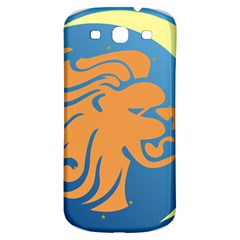 Lion Zodiac Sign Zodiac Moon Star Samsung Galaxy S3 S Iii Classic Hardshell Back Case by Nexatart