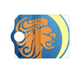 Lion Zodiac Sign Zodiac Moon Star Kindle Fire Hd (2013) Flip 360 Case by Nexatart