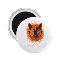 Cat Smart Design Pet Cute Animal 2 25  Magnets by Nexatart