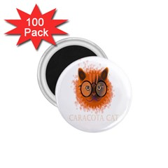 Cat Smart Design Pet Cute Animal 1 75  Magnets (100 Pack)