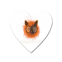 Cat Smart Design Pet Cute Animal Heart Magnet