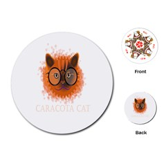 Cat Smart Design Pet Cute Animal Playing Cards (round)  by Nexatart