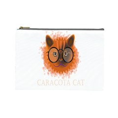 Cat Smart Design Pet Cute Animal Cosmetic Bag (large)  by Nexatart