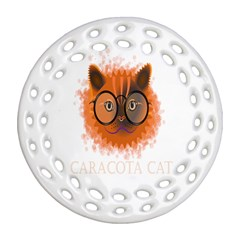 Cat Smart Design Pet Cute Animal Ornament (round Filigree)