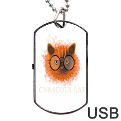 Cat Smart Design Pet Cute Animal Dog Tag Usb Flash (one Side) by Nexatart