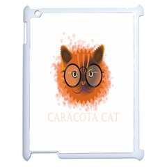 Cat Smart Design Pet Cute Animal Apple Ipad 2 Case (white)