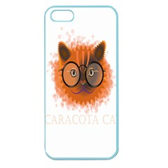 Cat Smart Design Pet Cute Animal Apple Seamless Iphone 5 Case (color)
