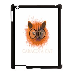 Cat Smart Design Pet Cute Animal Apple Ipad 3/4 Case (black) by Nexatart