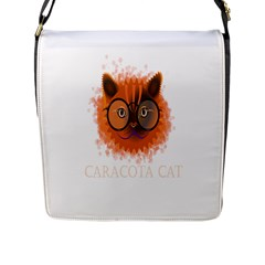 Cat Smart Design Pet Cute Animal Flap Messenger Bag (l)  by Nexatart