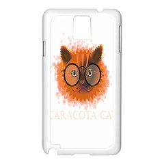 Cat Smart Design Pet Cute Animal Samsung Galaxy Note 3 N9005 Case (white)