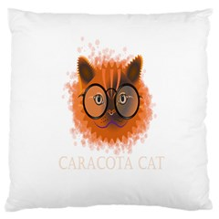 Cat Smart Design Pet Cute Animal Large Flano Cushion Case (two Sides) by Nexatart
