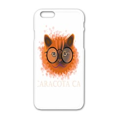 Cat Smart Design Pet Cute Animal Apple Iphone 6/6s White Enamel Case by Nexatart