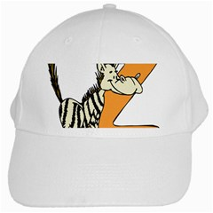 Zebra Animal Alphabet Z Wild White Cap by Nexatart