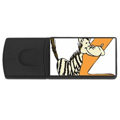 Zebra Animal Alphabet Z Wild Rectangular Usb Flash Drive