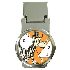 Zebra Animal Alphabet Z Wild Money Clip Watches by Nexatart