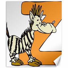 Zebra Animal Alphabet Z Wild Canvas 20  X 24   by Nexatart