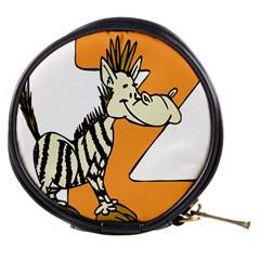 Zebra Animal Alphabet Z Wild Mini Makeup Bags by Nexatart