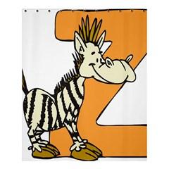 Zebra Animal Alphabet Z Wild Shower Curtain 60  X 72  (medium)  by Nexatart