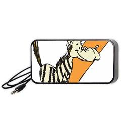 Zebra Animal Alphabet Z Wild Portable Speaker (black)