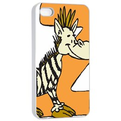 Zebra Animal Alphabet Z Wild Apple Iphone 4/4s Seamless Case (white)