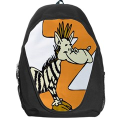 Zebra Animal Alphabet Z Wild Backpack Bag