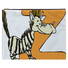 Zebra Animal Alphabet Z Wild Cosmetic Bag (xxxl)  by Nexatart