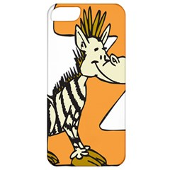 Zebra Animal Alphabet Z Wild Apple Iphone 5 Classic Hardshell Case