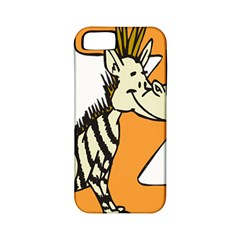 Zebra Animal Alphabet Z Wild Apple Iphone 5 Classic Hardshell Case (pc+silicone) by Nexatart