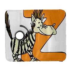 Zebra Animal Alphabet Z Wild Galaxy S3 (flip/folio)