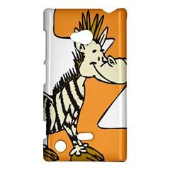 Zebra Animal Alphabet Z Wild Nokia Lumia 720 by Nexatart