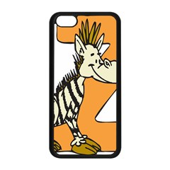 Zebra Animal Alphabet Z Wild Apple Iphone 5c Seamless Case (black) by Nexatart