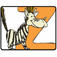 Zebra Animal Alphabet Z Wild Double Sided Fleece Blanket (medium)