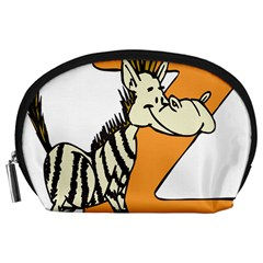 Zebra Animal Alphabet Z Wild Accessory Pouches (large)