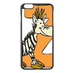 Zebra Animal Alphabet Z Wild Apple Iphone 6 Plus/6s Plus Black Enamel Case by Nexatart