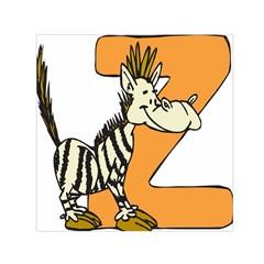 Zebra Animal Alphabet Z Wild Small Satin Scarf (square)