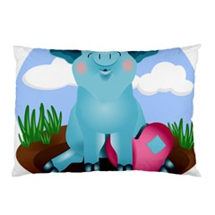 Pig Animal Love Pillow Case (two Sides)