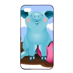 Pig Animal Love Apple Iphone 4/4s Seamless Case (black)