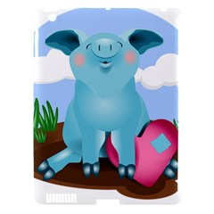 Pig Animal Love Apple Ipad 3/4 Hardshell Case (compatible With Smart Cover)