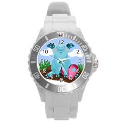 Pig Animal Love Round Plastic Sport Watch (l) by Nexatart