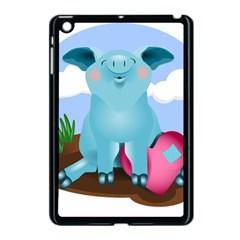 Pig Animal Love Apple Ipad Mini Case (black) by Nexatart