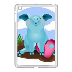 Pig Animal Love Apple Ipad Mini Case (white) by Nexatart