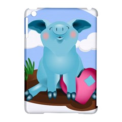 Pig Animal Love Apple Ipad Mini Hardshell Case (compatible With Smart Cover) by Nexatart